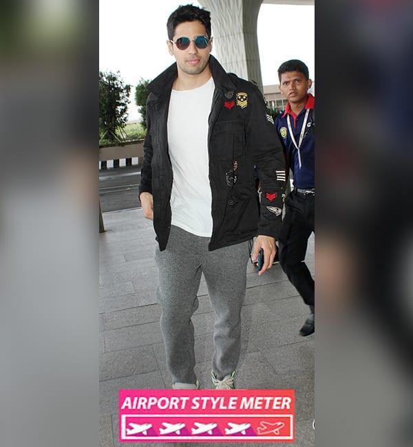 Sidharth Malhotra Airport Style Rating