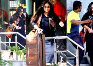 Vidya Balan tries avoiding a fan and we have it captured in 5 clicks