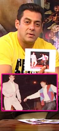 Salman Khan remembers everything about this throwback picture of him dancing with SRK - watch video