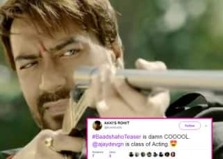 Ajay Devgn's daredevil act in the Baadshaho teaser has Twitter going crazy