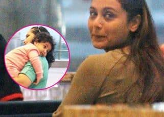 Rani Mukerji and her munchkin Adira look ADORABLE at the airport - View HQ pics