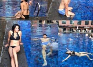 Bigg Boss 10's Mona Lisa is turning up the heat in a black bikini - view pic