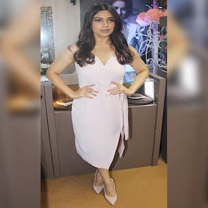 Fashion pick of the day: Bhumi Pednekar beats the gloomy monsoons in blush pink – View Pics