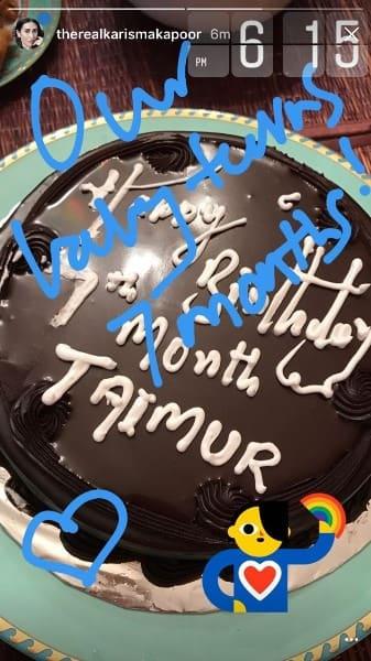 Taimur-Birthday-Cake