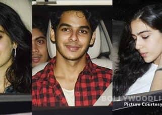 Jhanvi Kapoor's friends Sara Ali Khan and Ishaan Khattar took the centre stage at Sridevi's MOM screening - view HQ pics