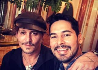 Dino Morea and Nandita Mahtani have a fan moment with Johnny Depp - view pics!