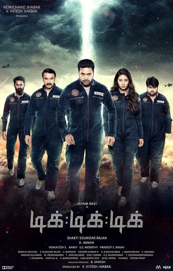 tik tik tik new poster an angry jayam ravi leading a bunch of