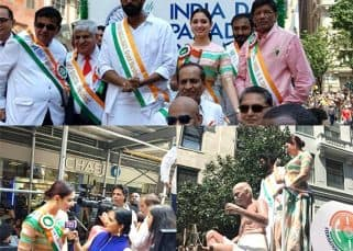 Tamannaah Bhatia and Rana Daggubati celebrate Independence Day at the India Day Parade in New York - view pics