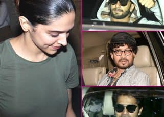 What was boyfriend Ranveer Singh doing at Deepika Padukone's work meets with Varun Dhawan and Irrfan Khan? View HQ pics