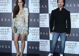 Tiger Shroff saves girlfriend Disha Patani from an embarrassing moment at LFW '17 - watch video