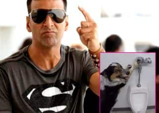Akshay Kumar teaches his dog how to flush after using the toilet and it's too funny for words - watch video