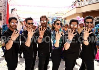These pictures of Ajay Devgn, Parineeti Chopra, Arshad Warsi from the set of Golmaal Again prove that it is going to be a Diwali DHAMAKA - view HQ pics