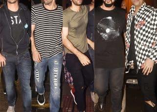 Varun Dhawan, Ranbir Kapoor, Arjun Kapoor party hard with Karan Johar on a Saturday night
