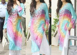 Jhanvi Kapoor looks as colourful as a rainbow as she steps out on a sunny afternoon - view HQ pics