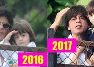 AbRam Khan is all grown up! Shah Rukh Khan joins his son in wishing fans Eid Mubarak - view HQ pics