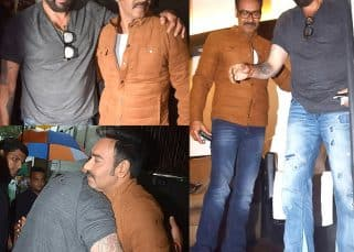 Don't know about patching up with Salman Khan but Sanjay Dutt is having whale of a time with Ajay Devgn - view HQ pics