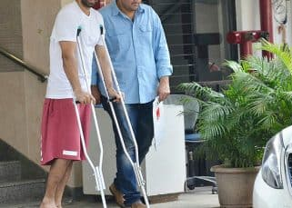 Aditya Roy Kapur teaches you how to deal with a broken leg like a pro – View HQ pics