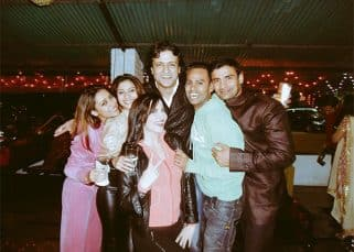 Ex Bigg Boss contestant VJ Andy shares this throwback picture with Pratyusha Banerjee, Tanisha and Armaan on the BB11 premiere