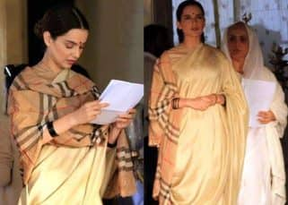 On set leaked pictures: Kangana Ranaut's Manikarnika look has been revealed and you would be surprised as to how simple yet elegant it is