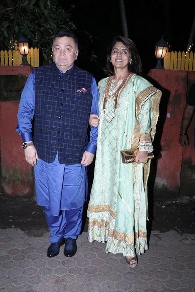 RISHI KAPOOR,NEETU SINGH ETC AT  shabana azmi party in juhu on 18 10 17.pics yogen shah (1)