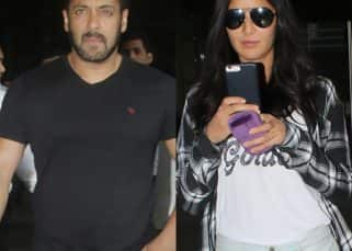 While Salman Khan looks in hurry to get back home from Greece, Katrina Kaif is busy clicking selfies at the airport – view HQ pics