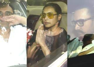 Rani Mukerji's father Ram Mukerji's last rites: Aditya Chopra, Aamir Khan, Ranveer Singh arrive to pay condolences - view HQ pics
