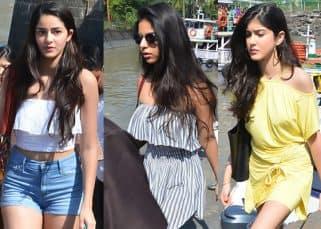 Suhana's besties Shanaya Kapoor and Aahana Pandey join Shah Rukh Khan's family for a mid-week getaway to their Alibaugh bungalow - view HQ pics