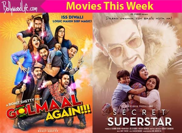 Movies This Week Golmaal Again Secret Superstar Bollywood News