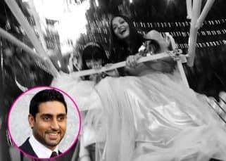 For Abhishek Bachchan, happiness is Aishwarya Rai Bachchan and Aaradhya having fun on a Ferris Wheel - view pic