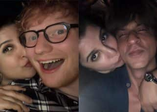 Ed Sheeran and 'handsome' Shah Rukh Khan get kissed by Farah Khan at her private bash - view pics!