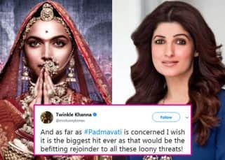 Padmavati row: Twinkle Khanna has the best solution to teach the protesters a lesson!