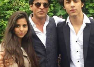 Shah Rukh Khan takes style cues from Aryan and Suhana Khan - View Pics