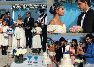 Yeh Rishta Kya Kehlata Hai's Shivangi Joshi and Mohsin Khan shoot for a dreamy Grecian wedding - view HQ pics!
