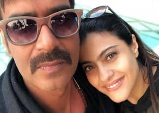 Kajol is ecstatic clicking a selfie with husband Ajay Devgn, while he does it for the sake of love and marriage