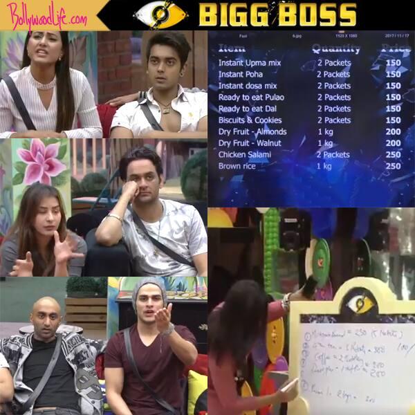 Bigg Boss 11: Arshi Khan, Hina Khan, Priyank Sharma, Shilpa Shinde panic while picking items from luxury budget- watch video
