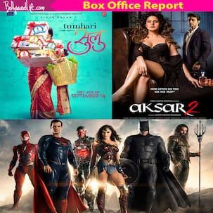 Box office report: Vidya Balan's Tumhari Sulu, Gal Gadot's Justice League and Gautam Rode's Aksar 2 take a mediocre start on day one