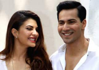 Jacqueline Fernandez challenges Judwaa 2 co-star Varun Dhawan to copy her yogini pose and his attempt will make you stop and stare