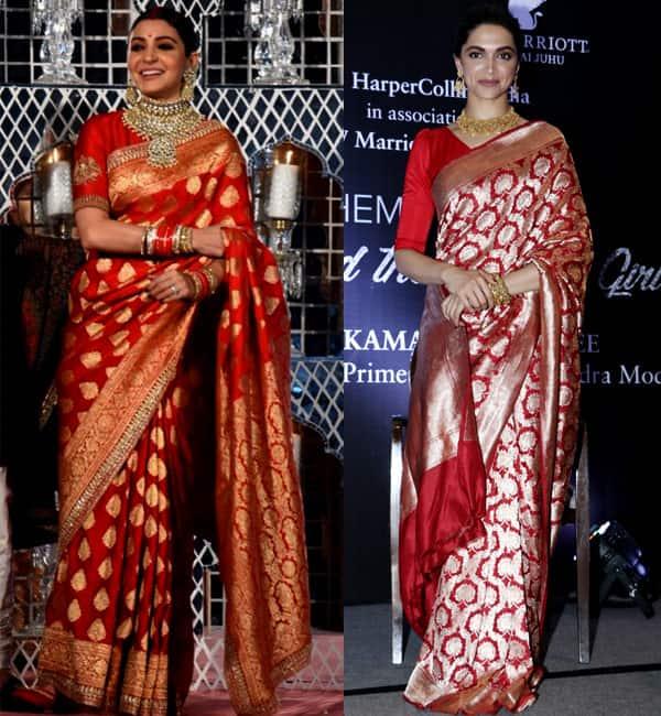 Anushka Sharmas Wedding Reception Saree Will Remind You Of Deepika