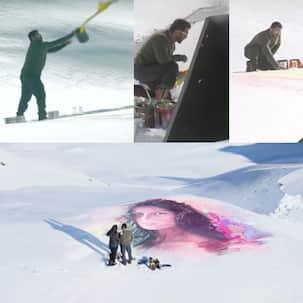 Tiger Zinda Hai song Dil Diyan Gallan making: This is how Salman Khan painted Katrina Kaif's portrait on ice