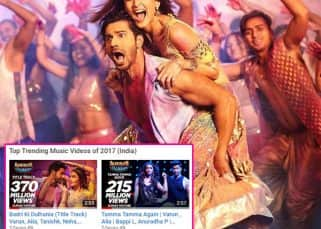 Alia Bhatt-Varun Dhawan's Tamma Tamma Again and Badri Ki Dulhania are the top trending music videos of 2017