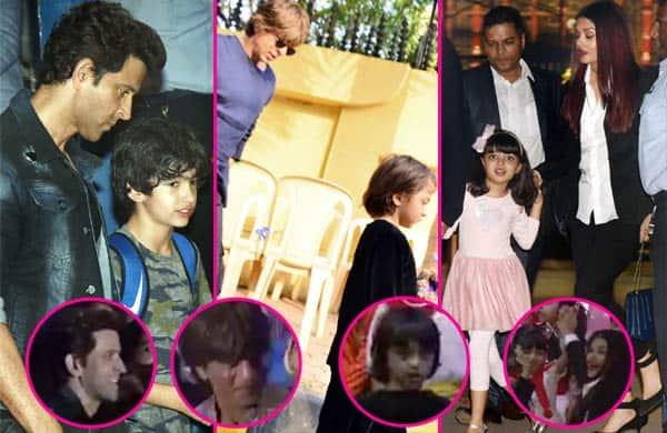 When Shah Rukh Khan, Hrithik Roshan, Aishwarya Rai Bachchan danced with Aaradhya and AbRam at their Annual Day function - watch video