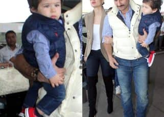 Countdown begins! Baby Taimur takes off to Pataudi to celebrate his first birthday with Kareena and Saif Ali Khan - view HQ pics