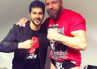 Varun Dhawan meets Triple H and takes on the wrestling ring at WWE Live India tour in Delhi - watch video