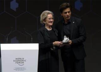 Shah Rukh Khan leaves Twitterati emotional as he receives an award at World Economic Forum 2018 in Davos