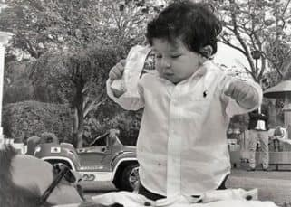 This picture of Taimur Ali Khan playing with Saif is too cute for words - view pic
