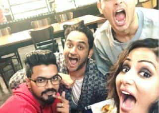 When Bigg Boss 11 runner up Hina Khan caught up with Priyank Sharma and Vikas Gupta - watch video