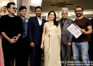 The first day shoot of Total Dhamaal was all about reuniting with old friends thanks to Madhuri, Aamir, Ajay and Anil - view HQ pics