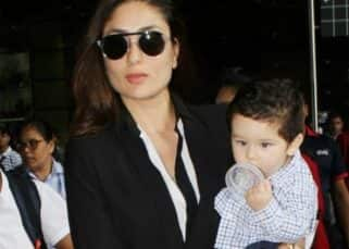 This picture of Taimur Ali Khan trying to comb his hair is way too cute to handle - view pic