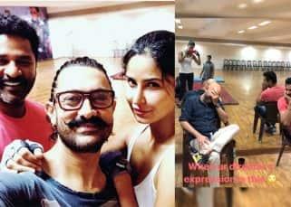 Katrina Kaif and Aamir Khan shake a leg with choreographer Prabhu Deva for Thugs of Hindostan - view pic