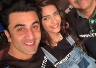 Ranbir Kapoor and Sonam Kapoor come together for a selfie on the last day of the Dutt biopic shoot and all we can hum is Saawariya
